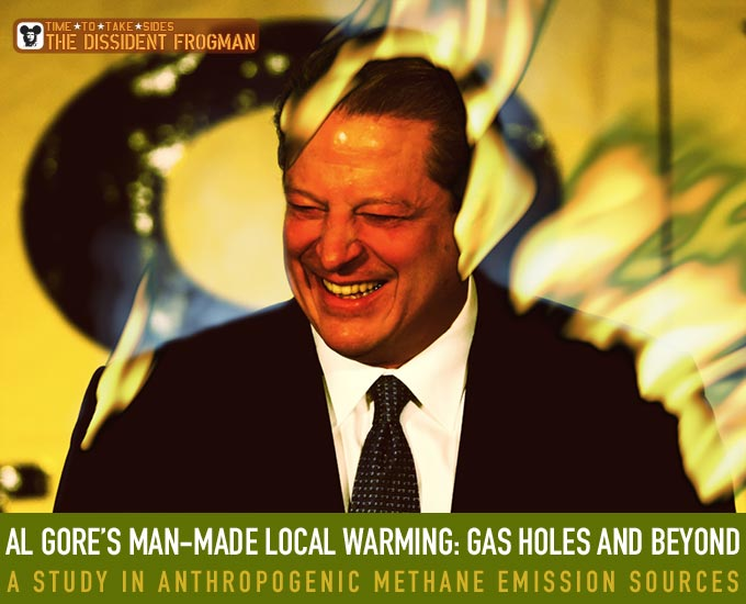 Al Gore's man-made local warming: gas holes and beyond, A study in anthropogenic methane emission sources